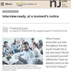 NJ.com - Interview-ready at a moments notice